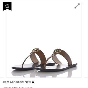 Gucci Calfskin GG Marmont Thong Sandals for Sale in Miami, FL