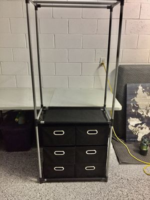Clothing Rack w/ 6 Drawers for Sale in Orlando, FL