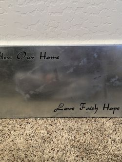 23x12 Bless Our Home- Love Faith Hope- Metal Wall Decor Metal Wall Art for Sale in Chandler,  AZ
