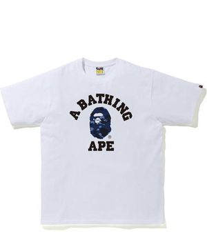 Bape blue camo college tee for Sale in Bridgeville, PA