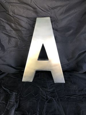 """Free Standing Metal Letter """"A"""" for Sale in Garden Grove, CA"""