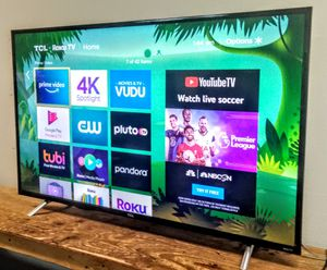 """SMART TV TCL 55"""" 4K LED ULTRA Thin HDR SCREEN MIRRORING UHD 2160p With DISNEY + AND APPLE TV ( OBO) for Sale in Phoenix, AZ"""