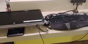 HP pavilion 23in all in one computer and Microsoft keyboard for Sale in Stuart, FL