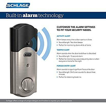 Schlage connect Camelot Satin Nickel Smart Door Lock WiFi ... Z WAVE PLUS , Retail $229