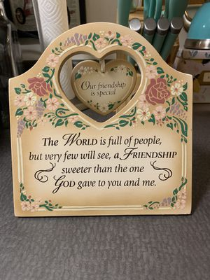 Friendship Religious Decorative Sign Picture Frame Home Decor for Sale in Des Moines, WA