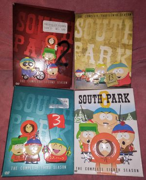 Lot (4) South Park The Complete 2nd, 3rd, 8th, 13th Season DVD TV Series for Sale in Pinellas Park, FL