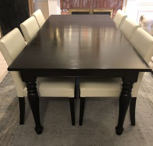 Crate & Barrel dining table and 6 chairs for Sale in Redmond, WA