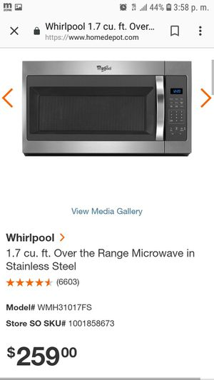 Whirlpool microwave for Sale in Minter, AL