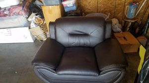 Dark Brown Plastic Leather 3-Piece Couch for Sale in Upland, CA