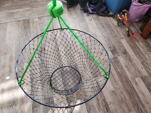 "32"" inch Crab Pot BRAND NEW-SEA HAWKS COLORS! Lobster or fish catcher for Sale in Ocean Shores, WA"