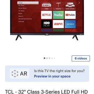 TCL Roku Tv 32 Inch for Sale in Plant City, FL