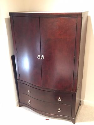 $195- Cherry wood Armoire - 2 pieces (top and bottom) for Sale in Silver Spring, MD