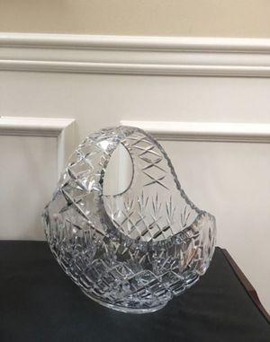 Lead Crystal Basket/Vase for Sale in Federal Way, WA