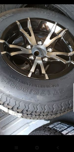 4 New Trailer Wheels/Tires/Rims 175-80-13 inch 5 lug 5x4.5 175/80 r13 tire for Sale in Moreno Valley, CA