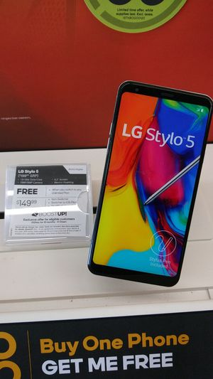 GET 2 LG STYLO 5! FREE WHEN YOU SWITCH AND BOGO! COME SEE US AT BOOST MOBILE ON 50TH AND AVE L! for Sale in Lubbock, TX