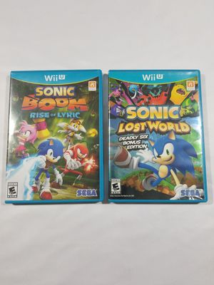 Sonic Lost World & Sonic Boom Nintendo Wii U Lot Complete Fast shipping CIB for Sale in Winter Springs, FL