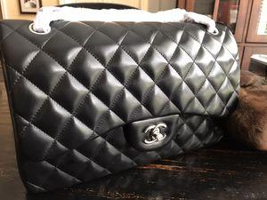 Chanel Jumbo Double Flap Lambskin Silver Hardware Black bag for Sale in Kennesaw, GA