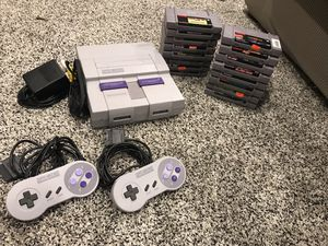Super Nintendo and 16 games for Sale in North Ridgeville, OH