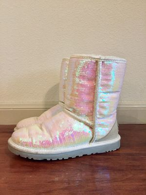 UGGS Classic Short Sparkle Iridescent Boot for Sale in Houston, TX