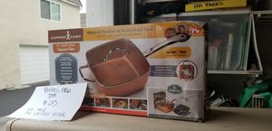 Copper chef deep dish square pan for Sale in Fountain Valley, CA