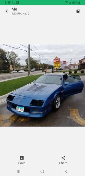 87 Camaro IROC 56000 original miles for Sale in Westchester, IL