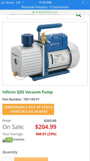 Inficon qs5 vacuum pump for Sale in Tullahoma, TN