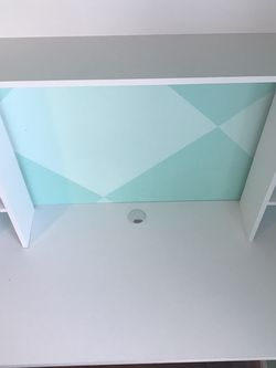 Whit Wall Desk With Chair Good Condition for Sale in Gainesville,  VA