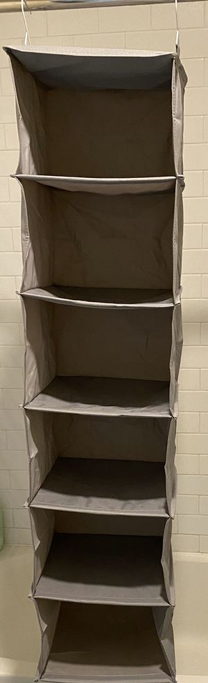 Hanging closet shelf organizer for Sale in Bridgewater, MA