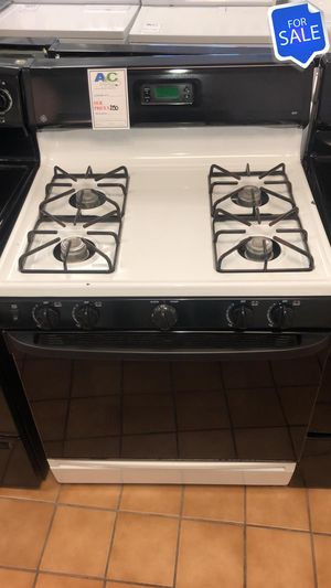 BIG BARGAINS!! Black & White GE Gas Stove Oven CONTACT TODAY! #1531 for Sale in Glen Burnie, MD