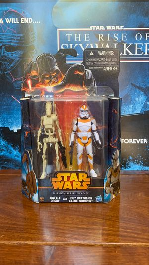 Star Wars Mission Series: Utapau 212th Battalion Clone trooper and Battle Droid action figure for Sale in Castro Valley, CA