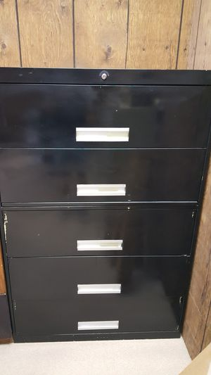 5 drawer lateral file cabinet with key for Sale in Fremont, OH