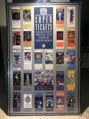 25 yrs of Super Bowl Tickets Poster for Sale in TWN N CNTRY, FL