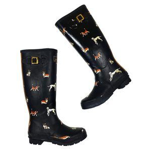 Joules size 8 dog women's rain boots wellies for Sale in Lacey, WA