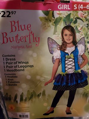 Blue butterfly costume...NEW for Sale in Spartanburg, SC