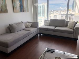 Beautiful Grey Velvet Couch for Sale in Miami, FL