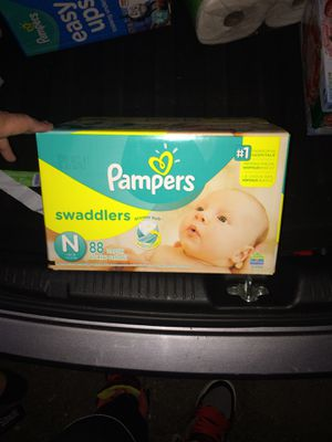 Diaper pampers newborn for Sale in Worcester, MA