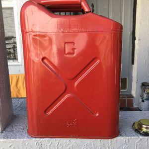 Jerry Can with holder/Carrier All Steel. Made in USA. for Sale in Miami, FL