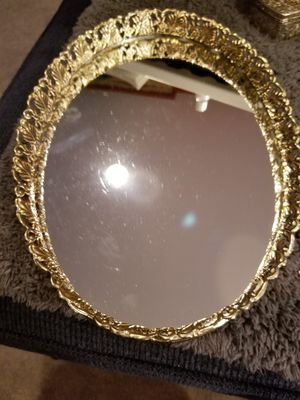 Silver Plated Oval Mirror for Sale in Rockville, MD