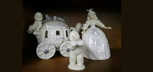 Rare department 56 Cinderella snow babies HAVE A BALL set of 3 mint in box for Sale in Saint Petersburg, FL