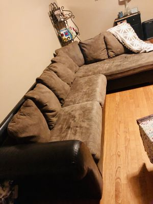 Nice microfiber/leather couch for Sale in Tacoma, WA