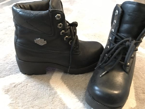 Leather Harley Women's Motorcycle Riding Boots