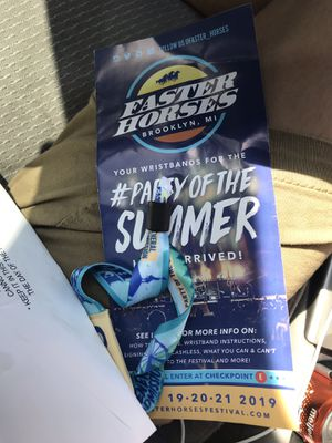 Faster horses tickets. 200$ each. 2 available. Original price, 260$ for Sale in Mount Pleasant, MI