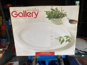 Tabletops Gallery hand crafted serving platter 21inch 53cm for Sale in Emerald Hills, CA
