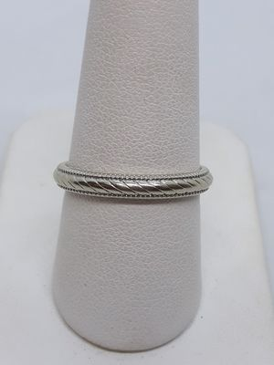 14k white gold unisex wedding band thumb ring size 8.5 3.3 grams for Sale in Fort Pierce, FL