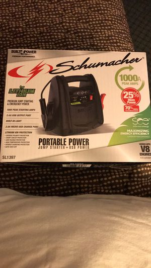 Schumacher 1000A Portable Power Jump Starter for Sale in Greensboro, NC