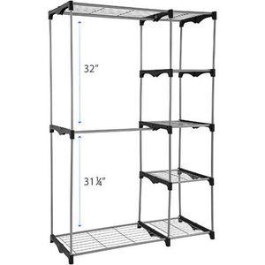 Mainstays Wire Shelf Closet Organizer, Black/Silver for Sale in Fontana, CA