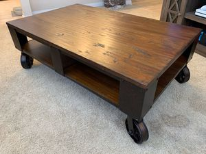Farmhouse Style Rustic Coffee Table for Sale in Irvine, CA