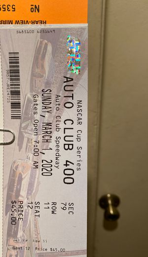 NASCAR cup series Auto club 400 tickets for Sale in Fontana, CA