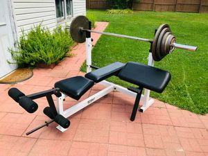 Bench Press - Work Out - Olympic Bar - Olympic Bench - Weights - Gym Equipment - Exercise for Sale in Bolingbrook, IL