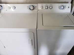 Great working super capacity Ge washer and dryer set for Sale in Vancouver, WA